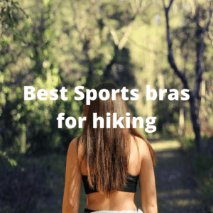Woman hiking in a sports bra