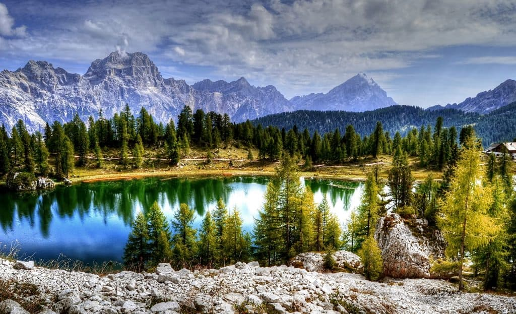Sorapiss Antelao Dolomites Mountains Alpine Italy