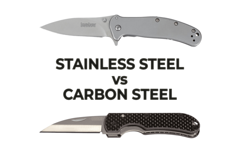 best folding survival knives - stainless steel vs carbon steel folding knives